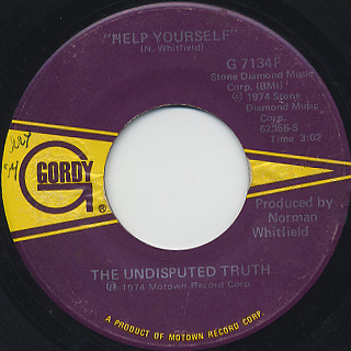 Undisputed Truth / Help Yourself c/w What's Going On