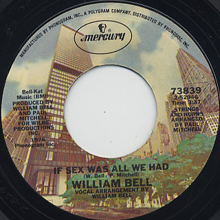 William Bell / Tryin' To Love Two c/w If Sex Was All We Had back