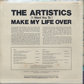 Artistics / I Want You To Make My Life Over back
