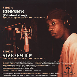 Big L / Ebonics back