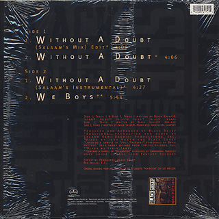 Black Sheep / Without A Doubt back