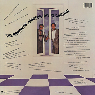 Brothers Johnson / Out Of Control back