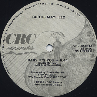 Curtis Mayfield / Baby It's You