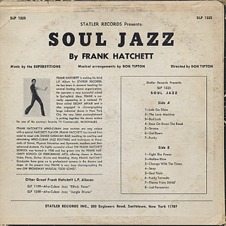 Frank Hatchett / Statler Records Presents Soul Jazz back