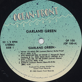 Garland Green / S.T. label