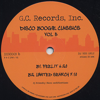 G.C Records Inc. / Disco Boogie Classics Vol.5 back