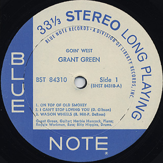 Grant Green / Goin' West label