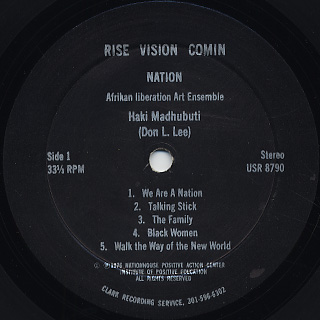 Haki Madhubuti / Rise Vision Comin label