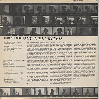 Harold Beckett / Joy Unlimited back