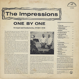 Impressions / One By One back