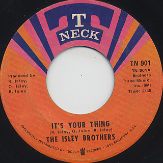 Isley Brothers / It's Your Thing c/w Don't Give It Away