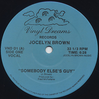 Jocelyn Brown / Somebody Else's Guy c/w I'm Somebody Else's Guy