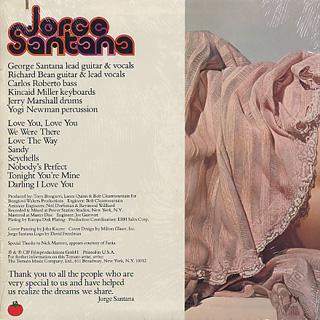 Jorge Santana / S.T. back