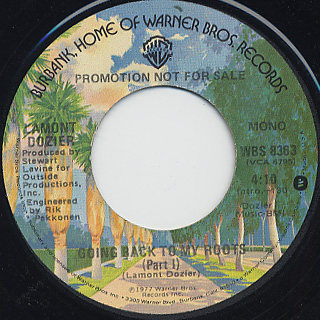 Lamont Dozier / Going Back To My Roots (Promo 45)