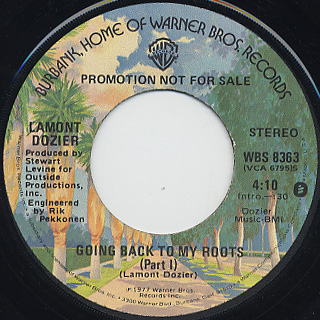 Lamont Dozier / Going Back To My Roots (Promo 45) back