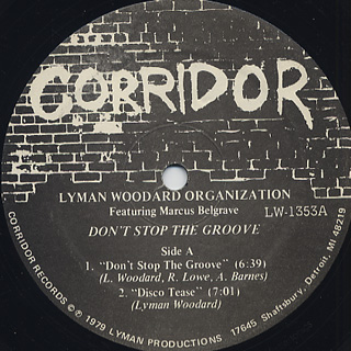 Lyman Woodard Organization / Don't Stop The Groove label