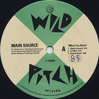 Main Source / What You Need back