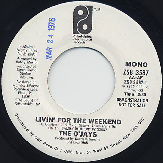 O'Jays / Livin For The Weekend back