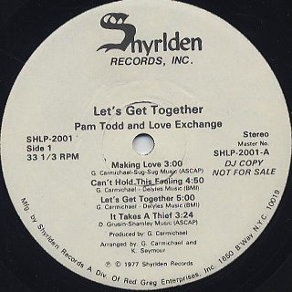 Pam Todd and Love Exchange / Let's Get Together label
