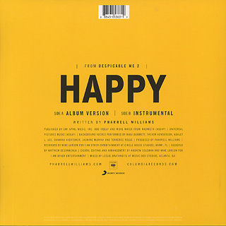 Pharrell Williams / Happy back