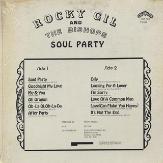 Rocky Gil And THe Bishops / Soul Party back