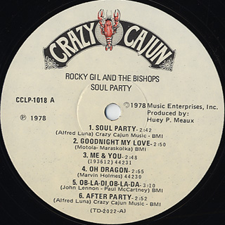 Rocky Gil And THe Bishops / Soul Party label