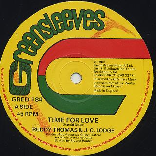 Ruddy Thomas & J.C. Lodge / Time For Love