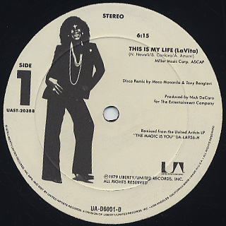 Shirley Bassey / This Is My Life (LaVita) back