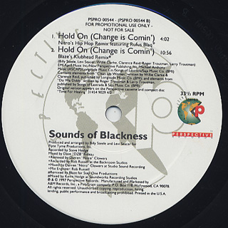 Sounds Of Blackness / Hold On(Change Is Comin') back