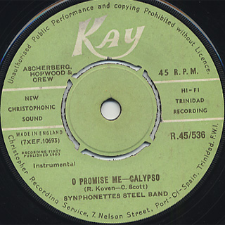 Synphonettes Steel Band / O Promise Me c/w Skylarks Steel Band / Cara Mia