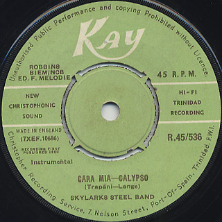 Synphonettes Steel Band / O Promise Me c/w Skylarks Steel Band / Cara Mia back