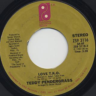 Teddy Pendergrass / Love T.K.O.