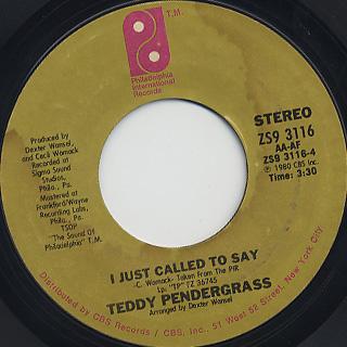Teddy Pendergrass / Love T.K.O. back