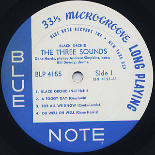 Three Sounds / Black Orchid label
