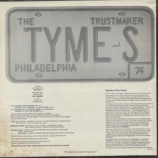 Tymes / Trustmaker back