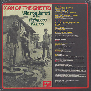 Winston Jarrett & Righteous Flames / Man Of The Ghetto back