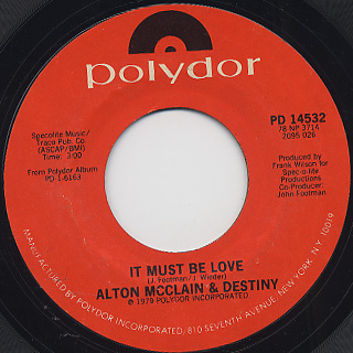 Alton McClain & Destiny / It Must Be Love