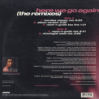 Aretha Franklin / Here We Go Again (The Remixes) back