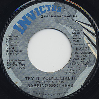Barrino Brothers / Try It, You'll Like It c/w I Had It All