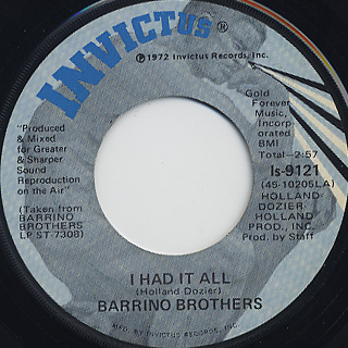 Barrino Brothers / Try It, You'll Like It c/w I Had It All back