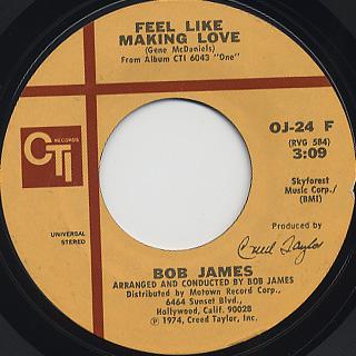 Bob James / Feel Like Making Love