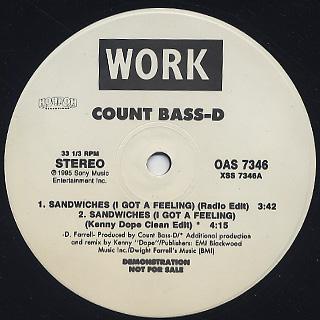 Count Bass-D / Sandwiches (I Got A Feeling)