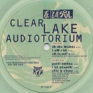 De La Soul / Clear Lake Audiotorium back