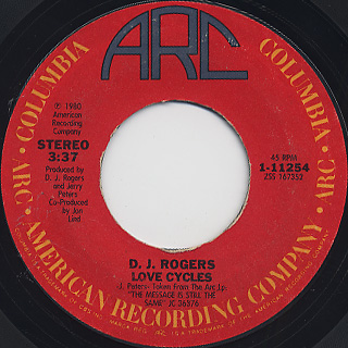 D.J. Rogers / Love Cycles c/w Country Song In My Heart