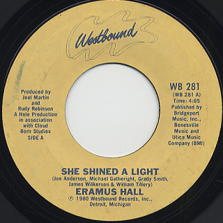 Eramus Hall / She Shined A Light
