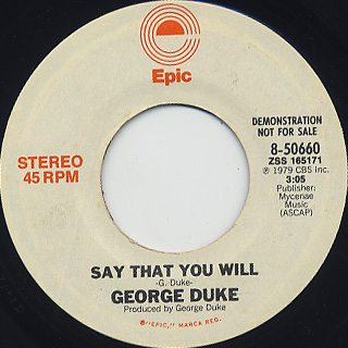 George Duke / Say That You Will