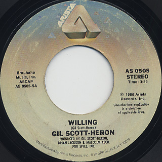 Gil Scott-Heron / Willing front