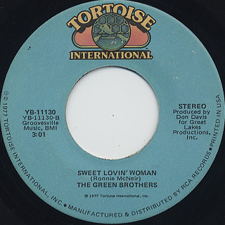Green Brothers / Lack Of Attention c/w Sweet Lovin' Woman back