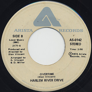 Harlem River Drive / Need You c/w Overtime back