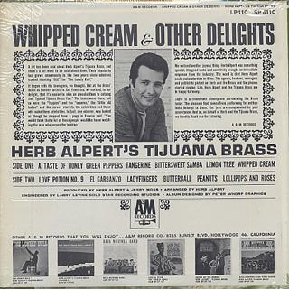 Herb Alpert's Tijuana Brass / Whipped Cream & Other Delights back